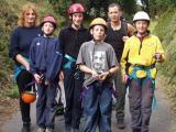Happy abseiling group